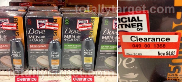 Dove Men+Care Body and Face Wash 6pk bar soap only $.82 cents at Target