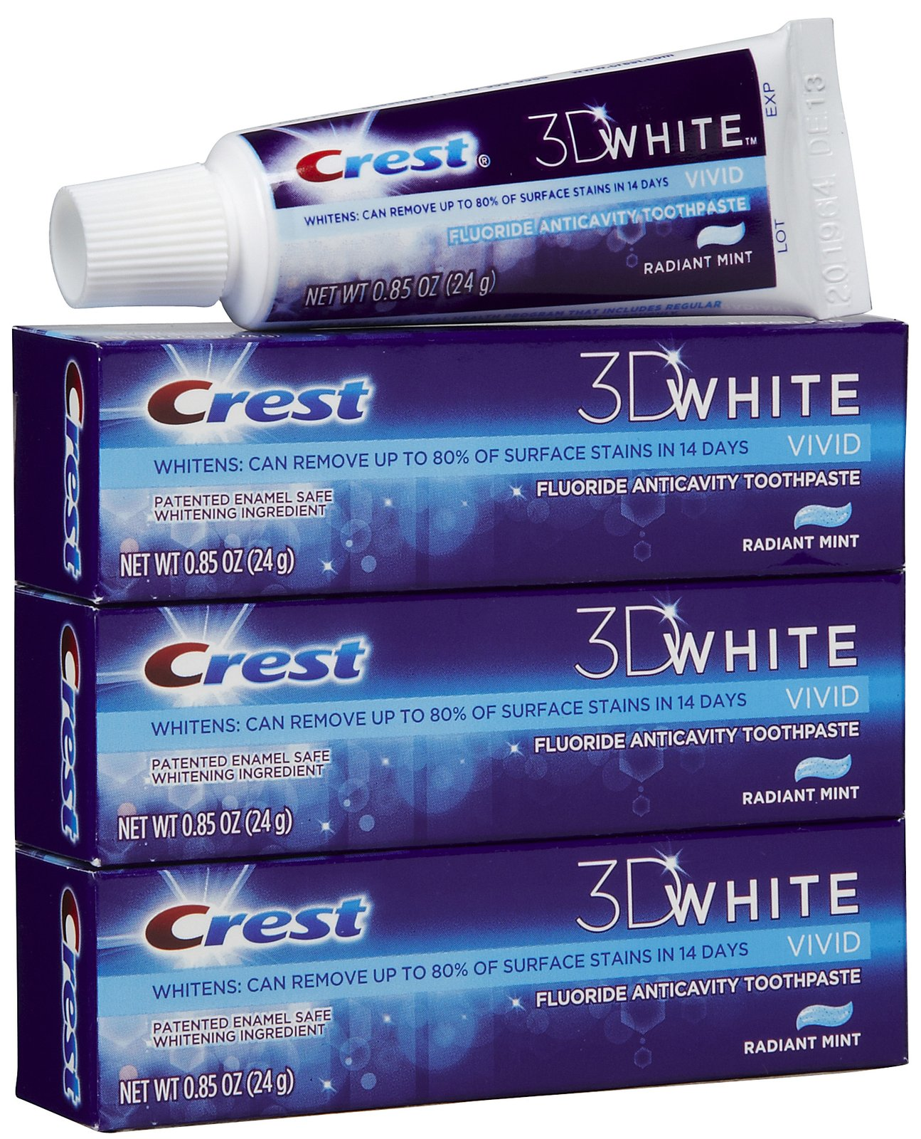 FREE Crest 3D White 3 Pack Toothpaste and Oral-B Indicator